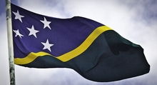 The Solomon Islands flag