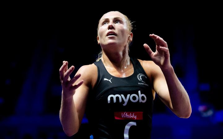 Netball World Cup Semi Final - England v New Zealand - M&S Bank Arena, Liverpool, England - New Zealand's Laura Langman. 2019.