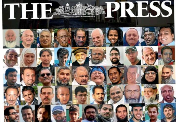 The Press on Monday carried images of all 51 victims.