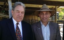 New Zealand First leader Winston Peters and Wairarapa candidate Ron Mark.
