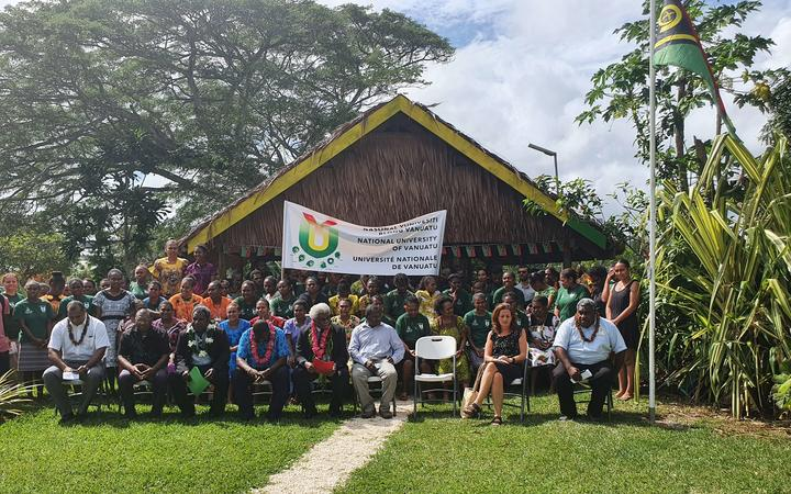 A ceremony at the newly-created National University of Vanuatu.