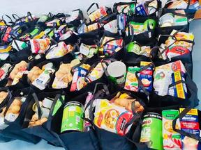 Food parcels provided by volunteers from Siaola in Auckland