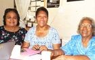 Faamanatu Nielson (right) with some senior members of the Samoa Nurses' Association