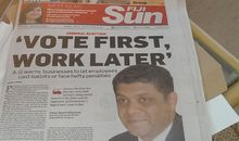 Fiji Minister Responsible for Elections Aiyaz Sayed-Khaiyum