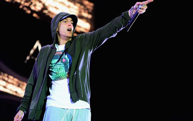 Eminem performing earlier this year in Chicago, Illinois.