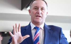 John Key campaigning in Dunedin today.