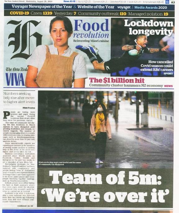 The NZ Herald 26 August 2020