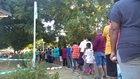 Queue at Andrews Primary School, Nadi to vote in Fiji Elections.