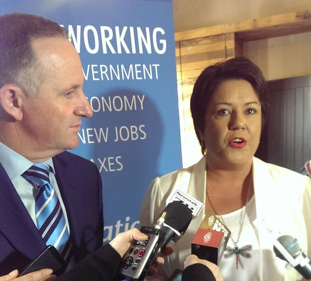 National leader John Key and social development spokesperson Paula Bennett.