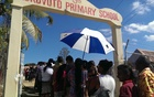 Voters line up at Korovuto school in Nadi