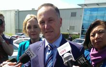 John Key in Auckland on Wednesday.