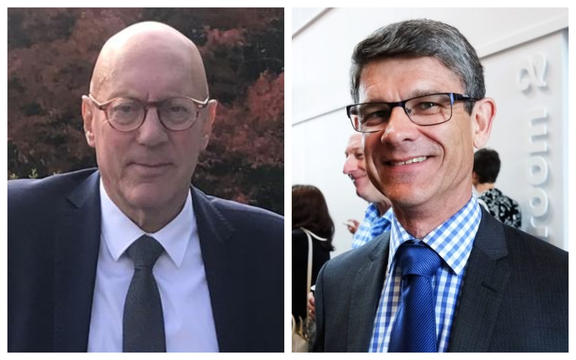 Queenstown Mayor, left, and Tourism Industry Aotearoa CEO on right
