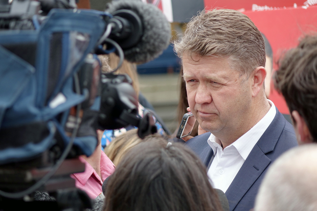 David Cunliffe speaks to reporters.