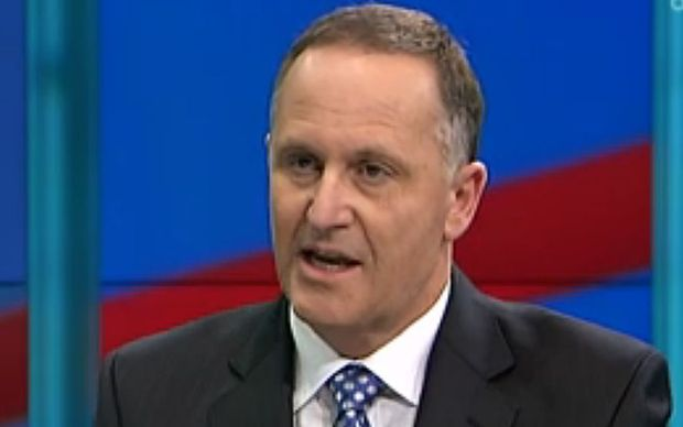 John Key during the final debate.