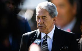 Winston Peters in Wairoa during his 2020 election campaigning. 14 September 2020