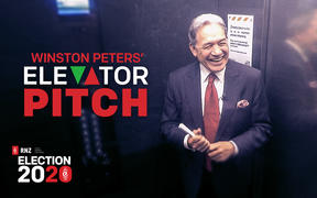 NZ First leader Winston Peters pitches policy and promises in The Elevator Pitch.
