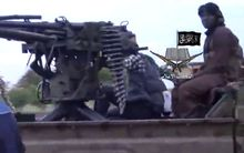 A screengrab from a video released by Nigerian Islamist extremist group Boko Haram.