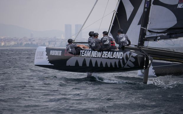 Team New Zealand in Extreme Sailing Series in Turkey.
