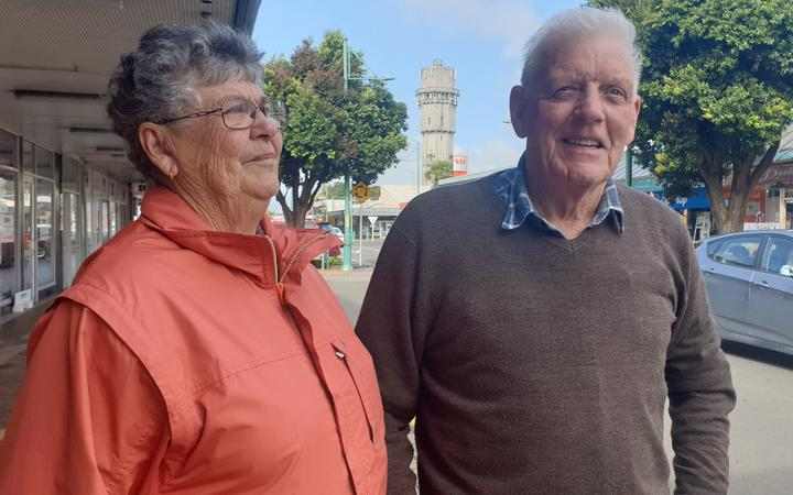 Julia and Gib Baxter reckon it's the wrong time to be building a new civic centre in Hawera.