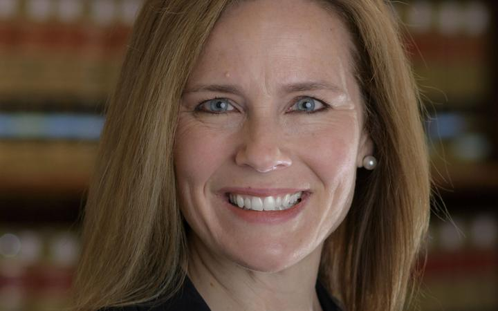 In this file undated handout photo obtained July 5, 2018 courtesy of University of Notre Dame/Julian Velasco shows Amy Coney Barrett.