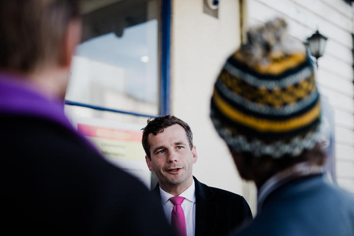 ACT leader David Seymour, on the Election 2020 campaign trail.