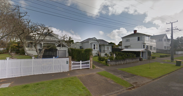 A street near the Stokes Point Reserve, in Auckland.
