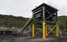 Loading hopper at Solid Energy's Terrace coal mine