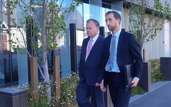 The man on the left is Gregory John Smith the gas-fitter involved in the case and the other is his defence counsel Joseph Lill.