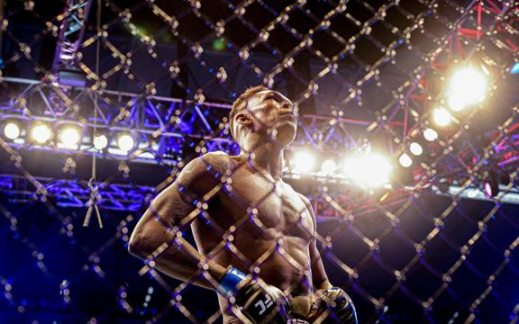 UFC fighter Israel Adesanya of New Zealand.