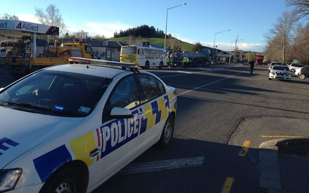 Emergency services were called to the crash in Cheviot just after 3pm this afternoon.