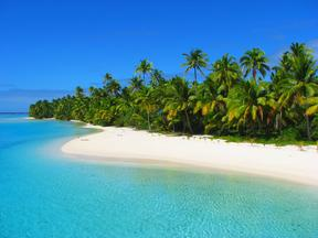 A beach in One Foot Island, Aitutaki, Cook Islands
