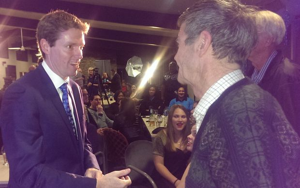 Conservative Party leader Colin Craig at the party's election headquarters in Auckland.