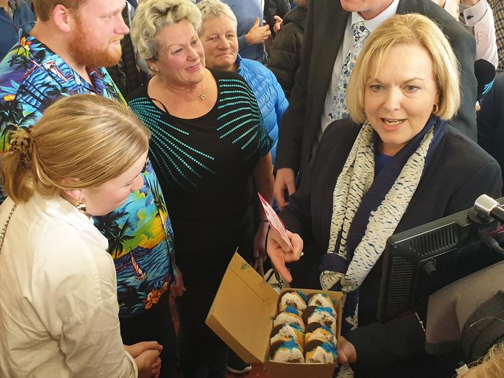 National Party leader Judith Collins on the campaign trail. 13/10/20