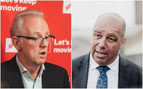 Ōhāriu candidates - Labour's Greg O'Connor and National's Brett Hudson
