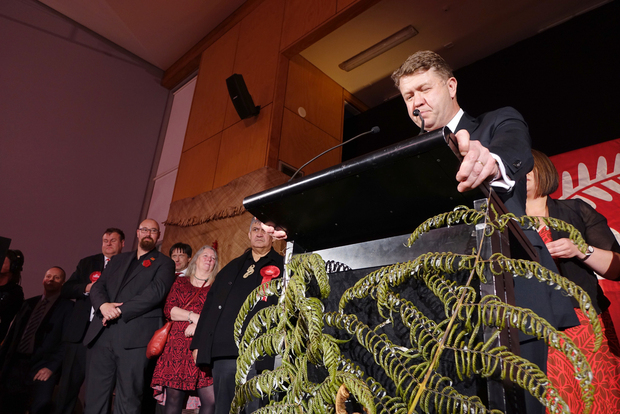 David Cunliffe admits defeat to supporters on election night.