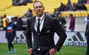 All Blacks assistant coach John Plumtree during the Bledisloe Cup rugby union test match between the New Zealand All Blacks and Australia Wallabies. Sky Stadium, Wellington, Sunday 11 October 2020.