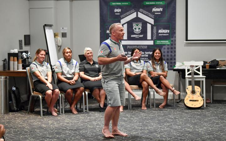 NRLW Warriors coach Brad Donald.