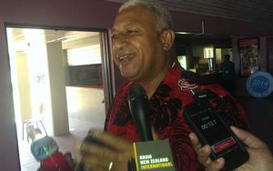 Frank Bainimarama on the eve of his landslide victory in the 2014 elections, the first since his 2006 coup