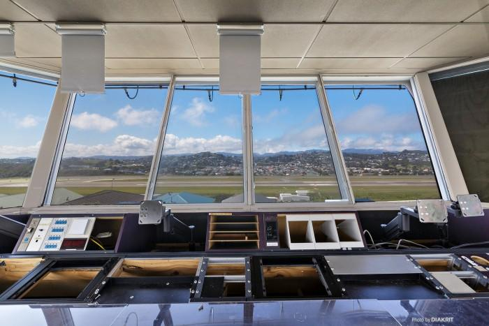 The interior of the old Wellington air traffic control tower.
