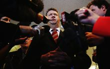 David Cunliffe after conceding defeat in Election 2014.