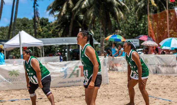 Beach volleyball is the latest of 25 games to feature at this year's Cook Island Games.