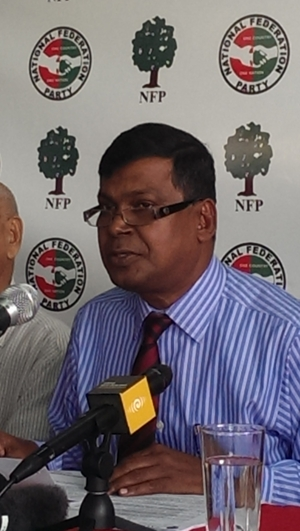 The leader of Fiji's National Federation Party, Biman Prasad