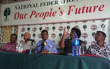 Fiji's National Federation Party MPs and members.