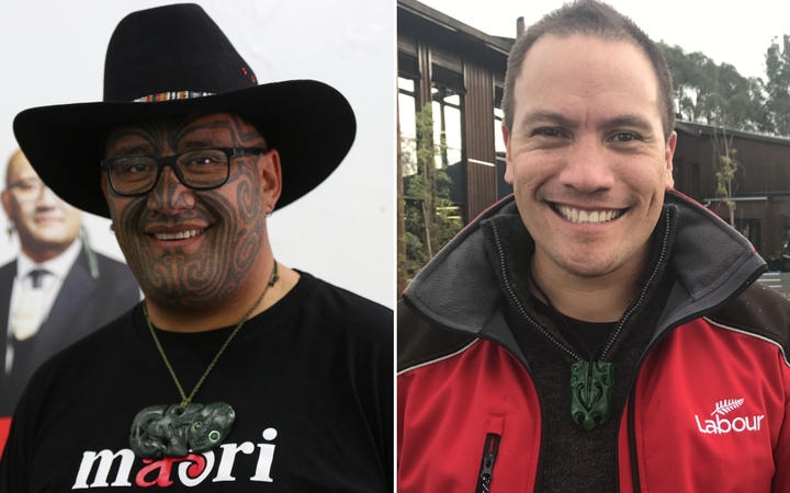 The Māori Party's Rawiri Waititi and Labour's Tamati Coffey.