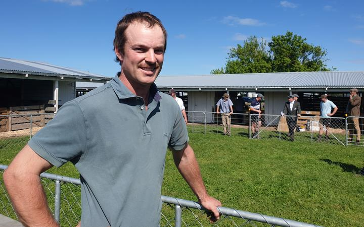 Hawke's Bay farmer Ben Hindmarsh is hopeful is Berkshire pig Bernard will take the top prize.