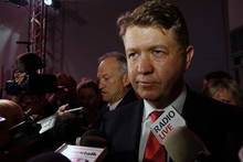 David Cunliffe speaks to media after admitting defeat on election night.
