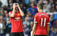 Manchester United beaten by Leicester City 2014.