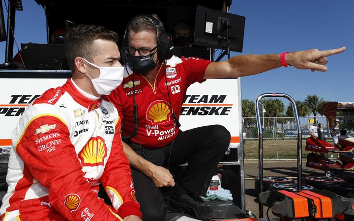 #3 Scott McLaughlin, Team Penske Chevrolet ahead of his IndyCar debut at the Grand Prix of St. Petersburg in Florida.