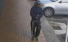 CCTV footage of a man police want to talk to following an attempted bag snatch on the North Shore.