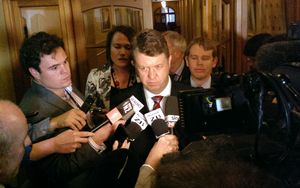 David Cunliffe after the seven-hour caucus meeting.